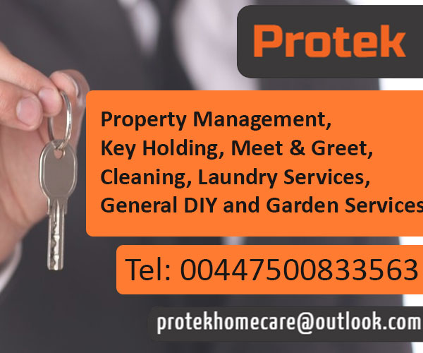 Protek - Property Management Key Holding Meet and Greet Cleaning Laundry Services General DIY and Garden Services