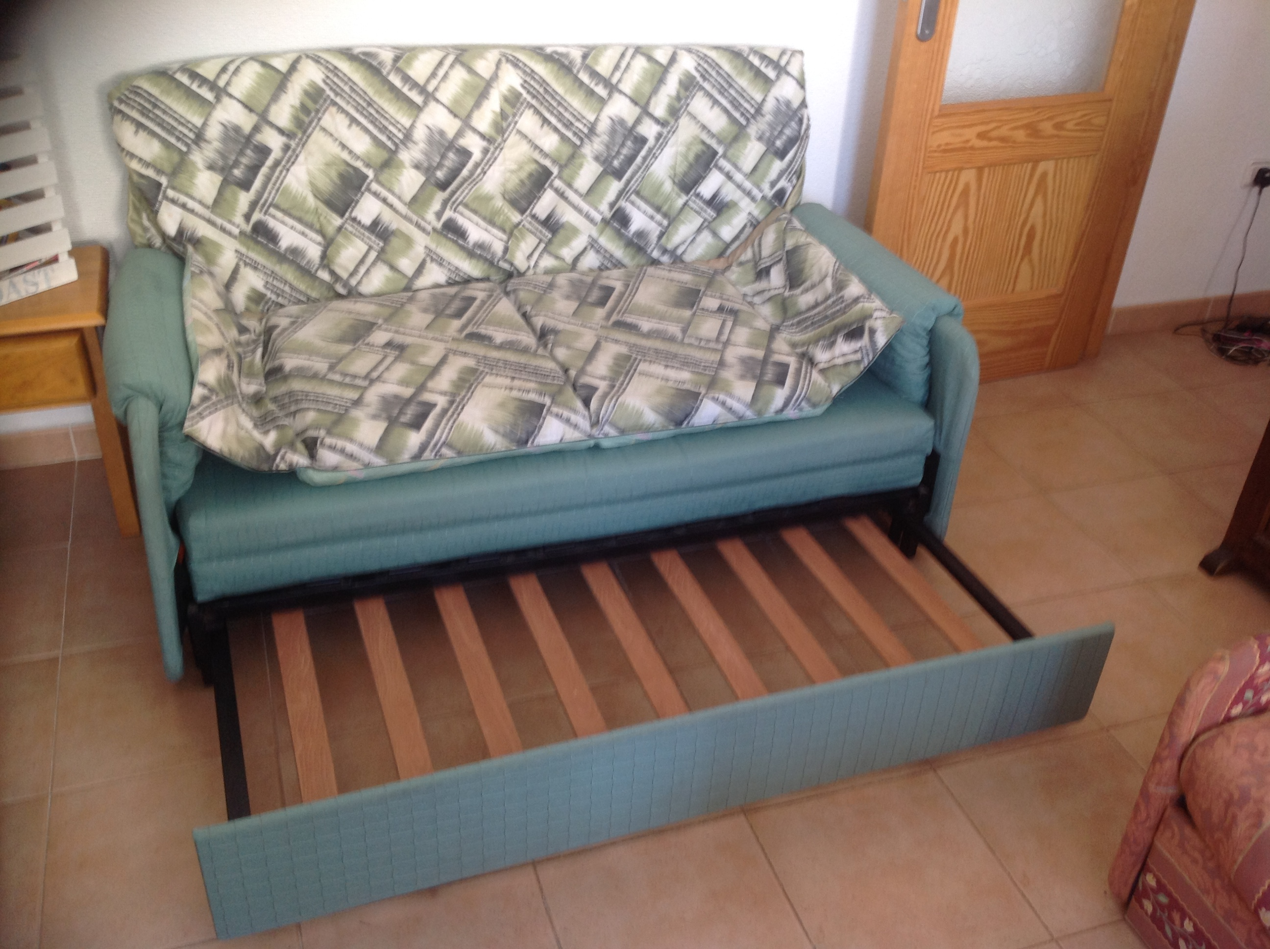 For Sale Two Settee Sofa Beds One Coffee Table Glass Top