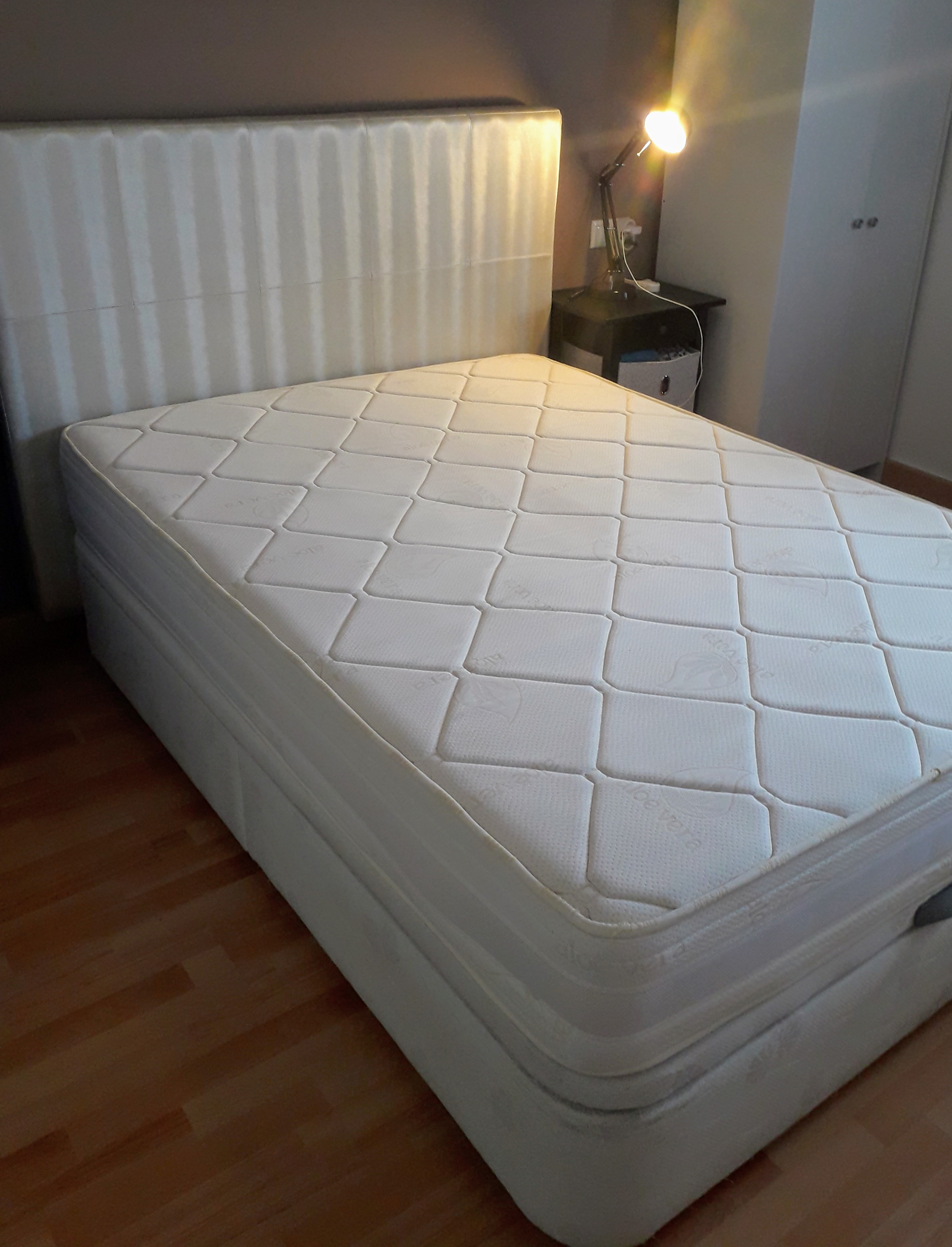 Modern Head board Mattress  & storage