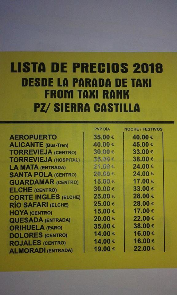 Cheapest taxi - Taxis in San Fulgencio - San Fulgencio forum