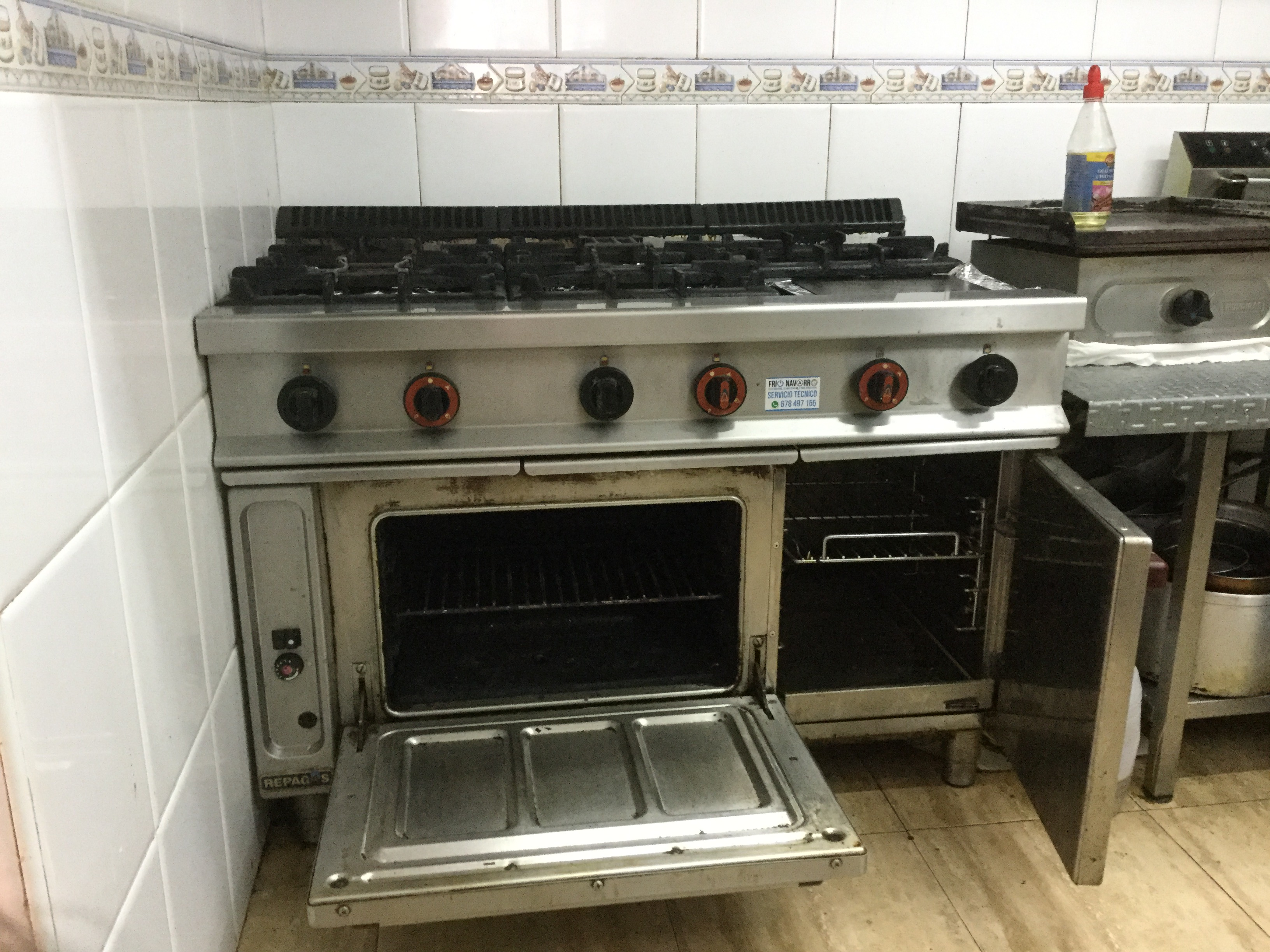 For sale contents of restaurant to include equipment and