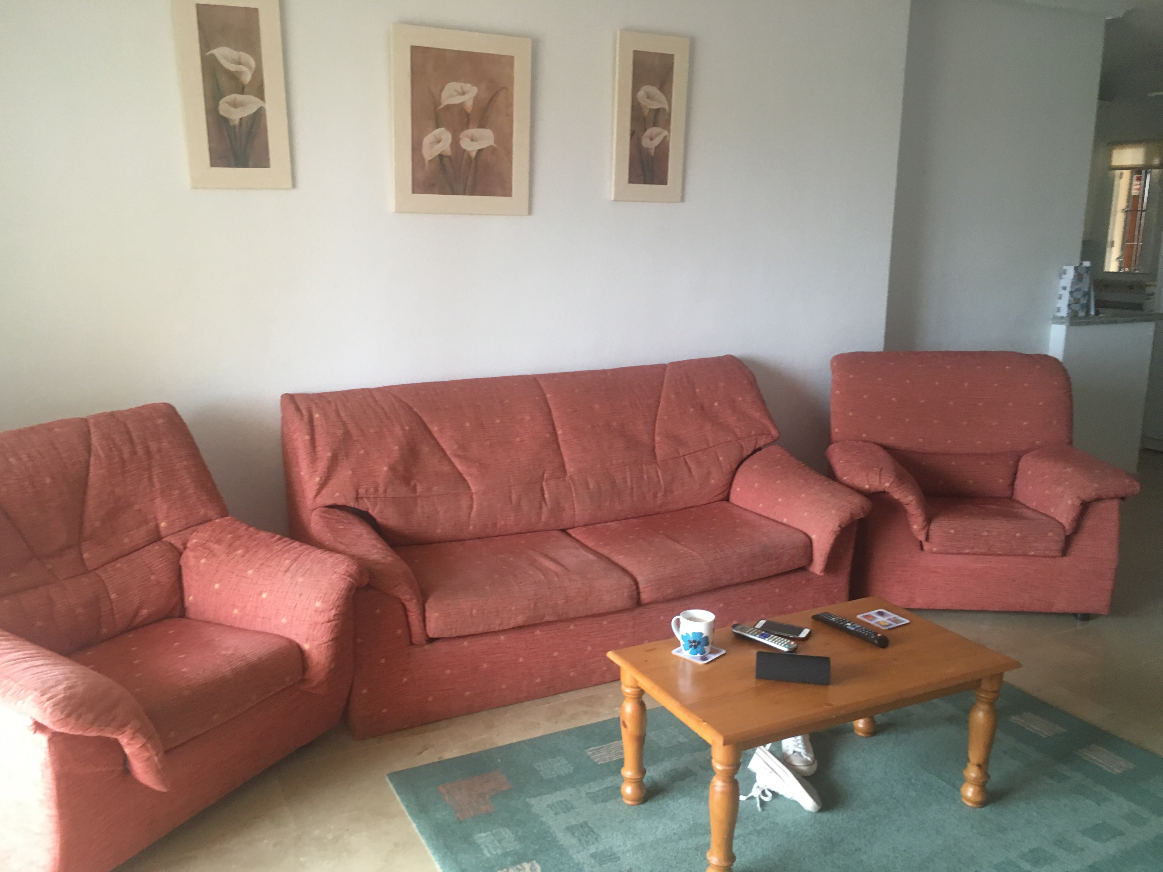 For sale 3 piece suite with settee doubling as sofa bed for Sofa bed 3 piece suite
