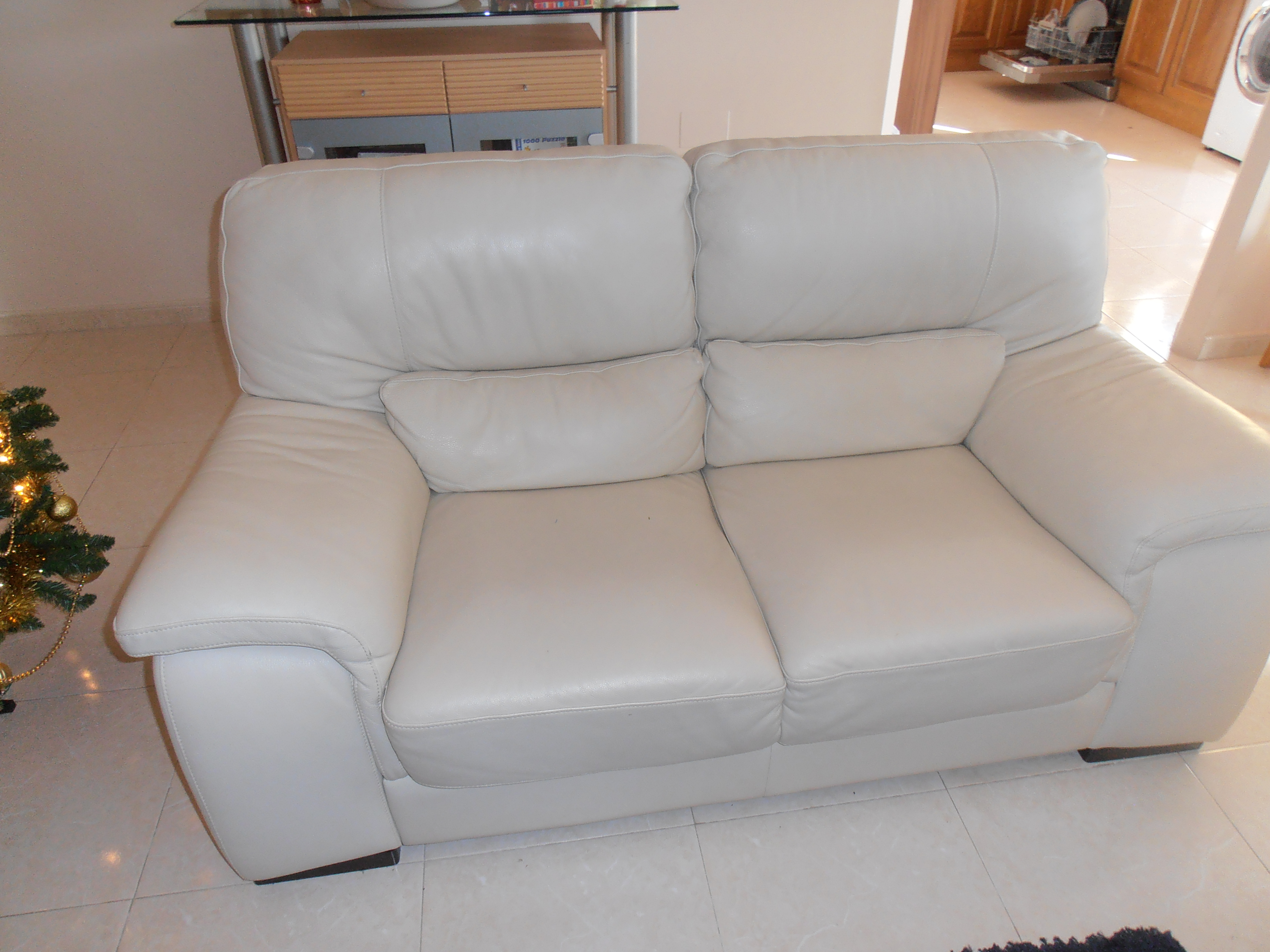 For sale: Leather settees