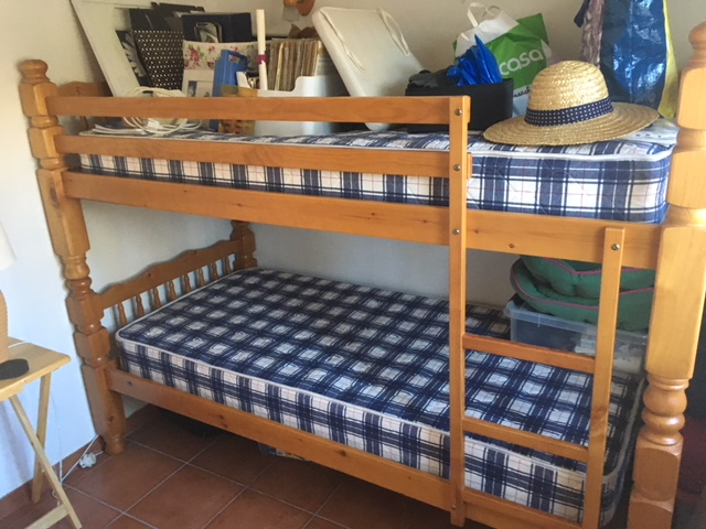 For sale: Two single pine beds, convertable to bunk beds