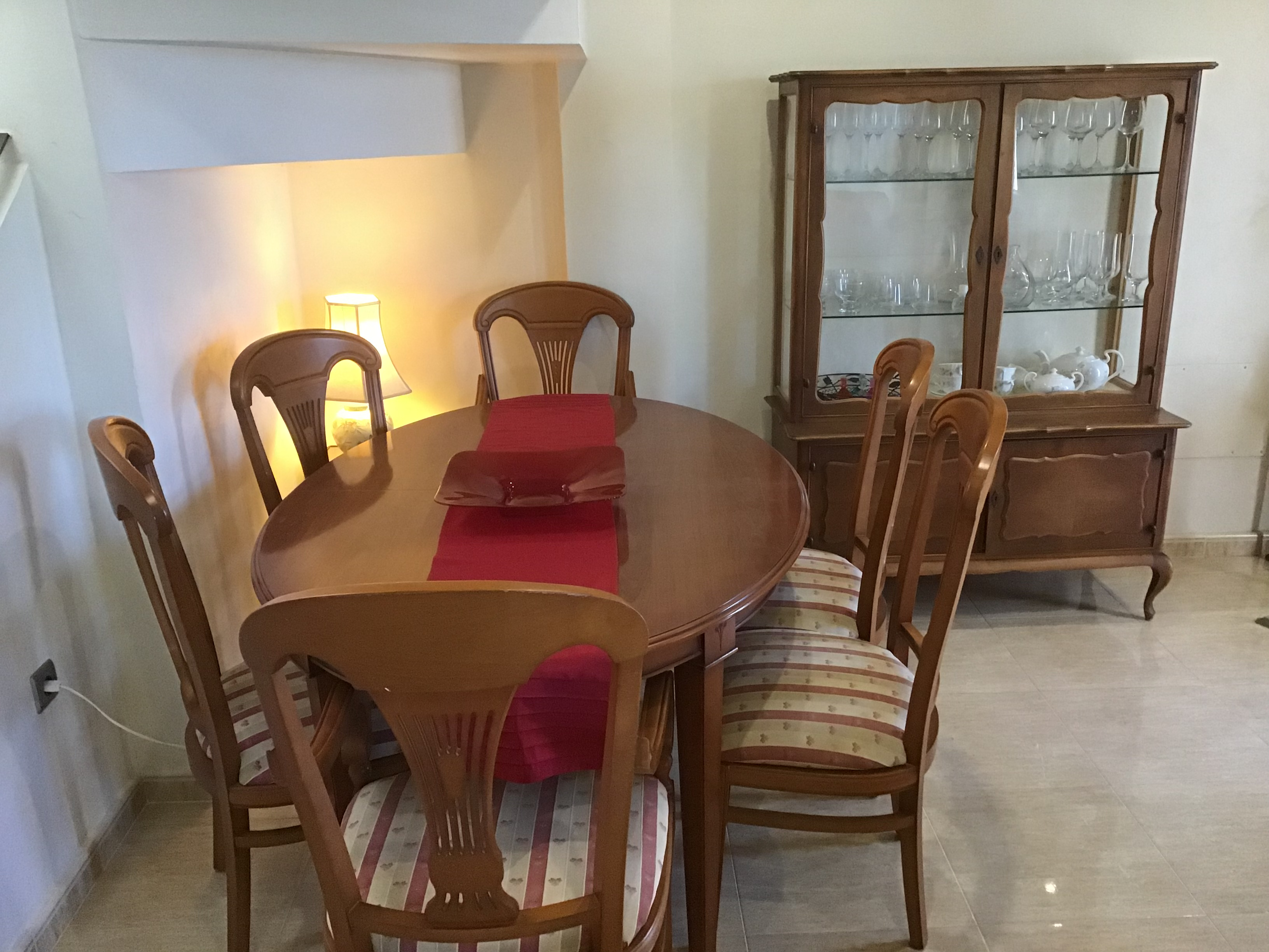 For sale: Dining Table, Chairs and Cabinet