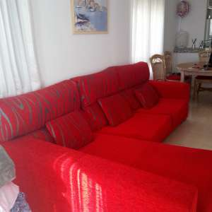 For sale: Red corner unit sofa/chaise lounge
