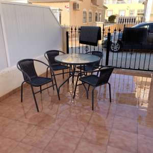 For sale: Glass outside table and chairs - €50