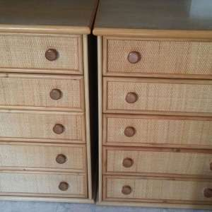 For sale: 2x five drawer chests