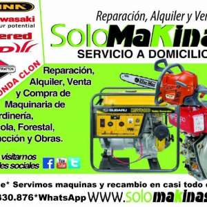 SOLOMAKINAS. GARDEN-FOREST-AGRIC MACHINES REPAIRS AND SALES.