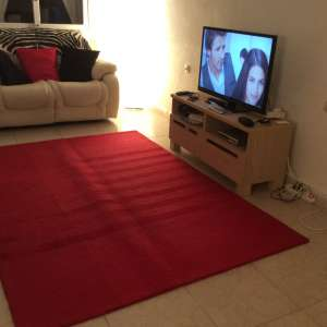 For sale: Red wool rug, bought from Next U.K.