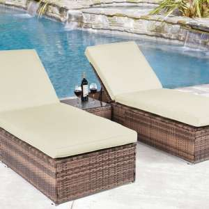 For sale: Adjustable Lounge Chaise Patio Poolside Chair Sunbed Daybed Deck