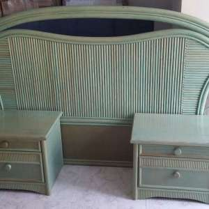 For sale: Double headboard and 2x bedside cabinets