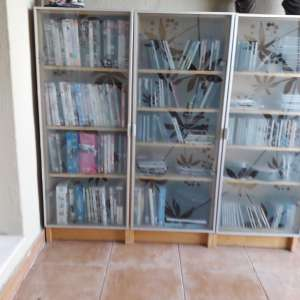 For sale: CD/DVD Glass fronted cabinets - €50