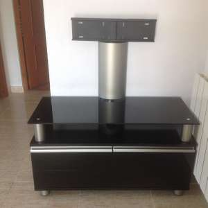 For sale: Black glass tv unit - €35