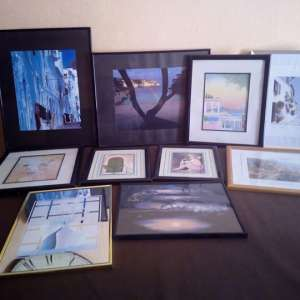 For sale: Selection of 10 framed pictures