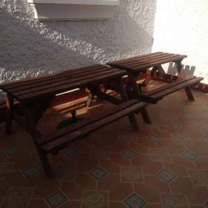 For sale: SOLD Garden / Picnic Tables Rock (Solid treated wood). - €38