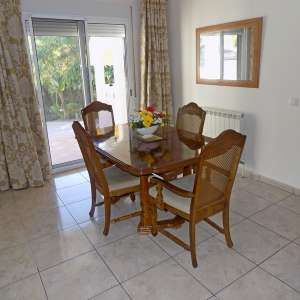 For sale: dining room table and six chairs sold - €70