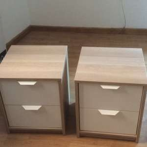 For sale: Bedside Ikea cabinets - €15