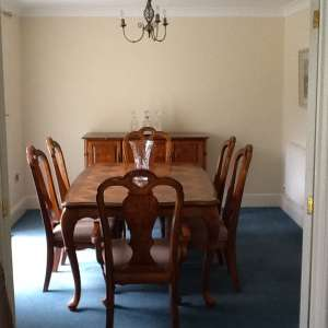 For sale: Dining table with six chairs with buffet (sideboard) - €250