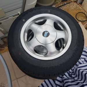 For sale: Hobby alloy wheels and brand new tyres