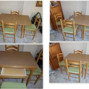 For sale: Handy Dinning Table and four chairs