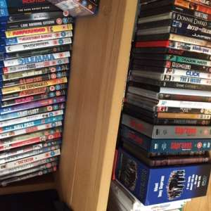 For sale: 150 DVDs , 50 Blueray discs and 40 vinyl discs