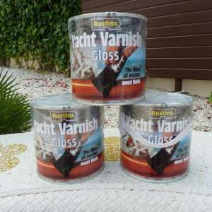 For Sale: Rustins Clear Gloss Yacht Varnish (2 x 2.5 L tins)