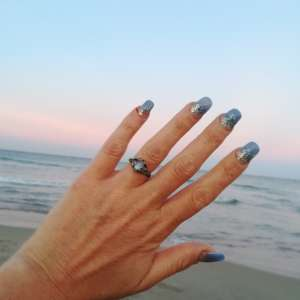 Lost: Beautiful silver and rainbow moonstone engagement ring.