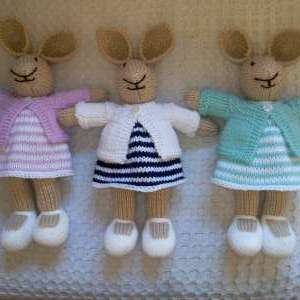 For sale: Knitted Rabbits