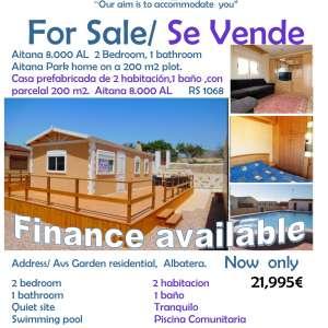 For Sale Aitana Park Home