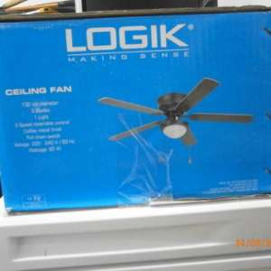 For sale: Ceiling fan with light, brand new, still in the box