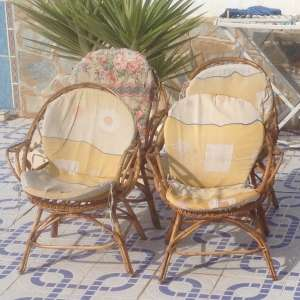 SOLD: 4 x Cane Chairs