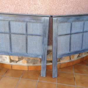 For sale: 2 Head boards for single beds – Blue with a gold tinge - €20