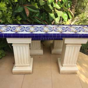 For sale: Mosaic Stone Tiled Garden Furniture