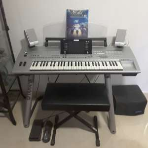 For sale: Yamaha Tyros professional keyboard and stand - €750