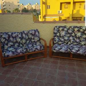 For sale: Wicker chairs with cushions - €90
