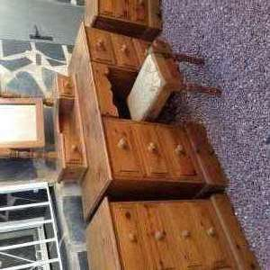 For sale: Dressing table with mirror and to side cabinets - €50