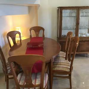 For sale: Dining Table, Chairs and Cabinet - €99