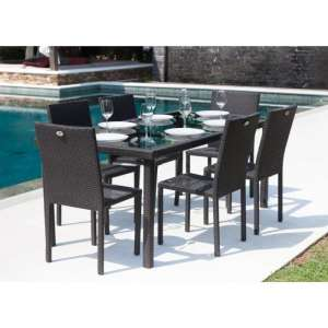 For sale: Riverside Outdoor/Indoor Dining Table with Glass Top and 4 Chairs