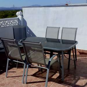 For sale: Sun terrace table and 6 chairs