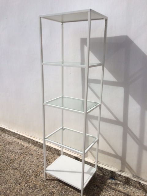 for sale ikea white metal glass shelf unit buy and sell items in algorfa algorfa forum. Black Bedroom Furniture Sets. Home Design Ideas