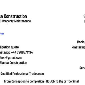 I can recommend: amazing builder and workmanship I highly recommend Costa Blanca Construction