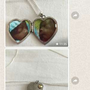 Found: Silver necklace with heart pendant  got 2 pics insidea of 2 babies  the front of pendent says I love you was found 8n benidorm