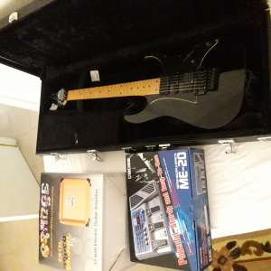 For sale: Ibanez RG electric guitar with hard case, Orange 12 amp and Boss multi effects pedal
