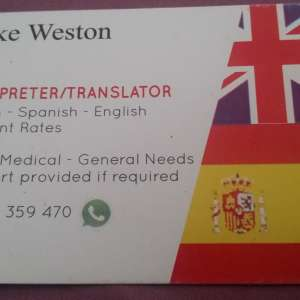 Costa Blanca Translator/Interpreter