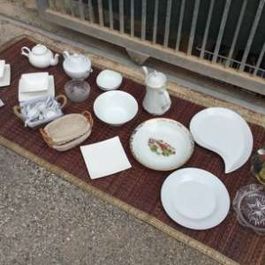 For sale: Various items of household crockery