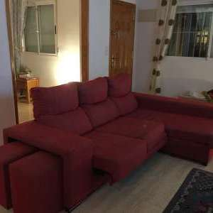 For sale: Left handed red durable material sofa