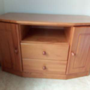 For sale: Pine TV stand/ cupboard - €25