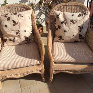 For sale: Two basket chairs