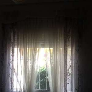 For sale: Curtains with support rails